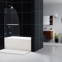 "DreamLine - DreamLine SHDR-3534586-01 Aqua Uno Tub Door - DreamLine Aqua Uno 34"" Frameless Hinged Tub Door, Clear 1/4"" Glass Door, Chrome Finish"