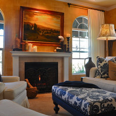 Traditional Living Room by Kathy Ann Abell Interiors