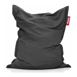 Fatboy - Original Outdoor Bean Bag in Charcoal - Filled with virgin polystyrene beads