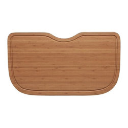 "Ukinox - Ukinox CB537HW Wood Cutting Board - Constructed from high quality bamboo hardwood, this cutting board seamlessly blends durability with ease of use. Designed to provide a convenient place for prepping and cleanup, the cutting board slides comfortably from side to side within a sinks beveled edge. Features: Bamboo hardwood cutting board. Beveled to sit within sink ledge. 3/8"" juice channel to drain liquids away from the cutting surface. Fits undermount sinks with min. 1/2"" reveal. Specifications: Total Product Length: 12.625 in. Total Product Width: 22 in. Total Product Thickness: 1 in. Product Weight: 4 lbs. Material: Bamboo Hardwood."