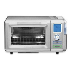 "Cuisinart - Cuisinart Steam and Convection Oven - This handsome and verstaile countertop oven features both convection and steam technology to cook a wide array of food. Large capacity can accommodate a 12"" pizza and enables you to toast up to 6 slices of bread."