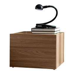 Rossetto - Start Walnut Nightstand by Rossetto USA - Features: