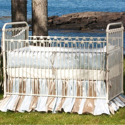 Corsican - Corsican Classic Iron Stationary Crib - 1682-101 - Shop for Cribs from Hayneedle.com! Do you want a crib that's good enough to last just a few years or do you want one so beautiful and durable it will turn into a family heirloom? Take a look at the Corsican Classic Iron Stationary Crib. This classic crib is handmade by skilled craftsmen who are dedicated to quality. The wrought iron is hand-forged and the finish is hand-applied (in your choice of colors). Each slat is accented where it loops at the rail for a smooth and finished look. The side rails are stationary to keep your baby safe and the mattress height can be adjusted as he grows. Fits a standard size crib mattress (not included). Note: This item can only be shipped within the 48 contiguous states. Dimensions: Crib: 54L x 30W x 44H in. Headboard/Footboard: 44H in. Side rails: 36H in. JPMA certified (requirements developed and published by ASTM International). About CorsicanWith a commitment to quality and attention to detail Corsican has been manufacturing iron furniture and accessories for more than 40 years. Their skilled craftsmen uphold a tradition of handcrafted beauty personal care and attention to detail.