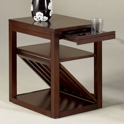 """Hammary - Chairsides Chairside Table in Kanson Finish - """"Hammary's Chairsides allow one to enjoy the best in style without sacrificing the finest in functionality. Complement any living area with this assortment of extraordinary Chairside tables."""