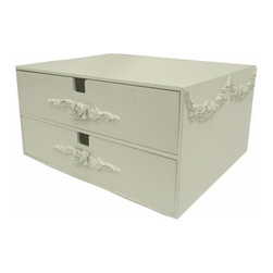 Charn&Co. - Bella Double Drawer Jewelry Box - Bella Double Drawer Jewelry Box is the perfect accent item for you cottage and shabby chic dcor look
