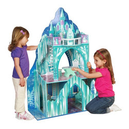 """Teamson - Teamson Kids Ice Mansion Doll House Multicolor - TD-11800A - Shop for Dollhouses and Dollhouse Furnishings from Hayneedle.com! It's a castle fit for the queen of Ice-olation and little girls will simply melt for the Teamson Kids Ice Mansion Doll House. Designed for standard 11.5-inch fashion dolls this ice castle is durably built of wood and offers an open design from several angles for easy play by several children at once. There are three levels in all with a spiral staircase leading to the third floor. Even the back is decorated so this dollhouse is fun from every side and a """"snowy"""" staircase leads out the back. The walls and floors feature carpets windows and decorative ice formations and the second level offers a spacious open layout for dolls to dance the night away under the winter sky. Take the spiral staircase to the third level and spend time on a balcony beneath the stars. This dollhouse comes furnished with seven frost-covered accessories including a throne a bed a table with two chairs a fountain and a snowman. About Teamson DesignBased in Edgewood N.Y. Teamson Design Corporation is a wholesale gift and furniture company that specializes in handmade and hand-painted kid-themed furniture collections and occasional home accents. In business since 1997 Teamson continues to inspire homes with creative and colorful furniture."""