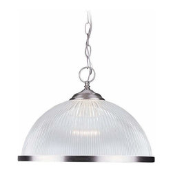 Sea Gull Lighting - 1-Light Pendant Brushed Nickel - 6641-962 Sea Gull Lighting 1-Light Pendant with a Brushed Nickel Finish