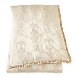 "Dian Austin Couture Home - King Damask Duvet Cover 108"" x 95"" - CREAM (95X108) - Dian Austin Couture HomeKing Damask Duvet Cover 108"" x 95""Designer About Dian Austin Couture Home:Taking inspiration from fashion's most famous houses of haute couture the Dian Austin Couture Home collection features luxurious bed linens and window treatments with a high level of attention to detail. Acclaimed home designer Dian Austin introduced the collection in 2006 and seeks out extraordinary textiles from around the world crafting each piece with local California artisans."