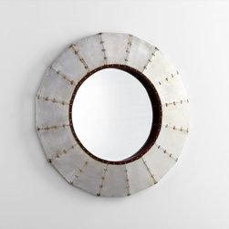 Cyan Design - Steel Wheel Mirror - Steel wheel mirror - raw steel