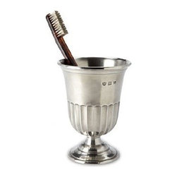 Match Pewter - Impero Toothbrush Cup by Match Pewter - Handmade in northern Italy, each piece bears a stamped symbol from the region in which it was made.