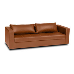 Eperny Faux Leather Sleeper Sofa -