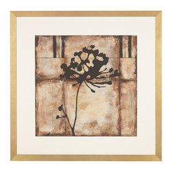 """J. Pocker - """"Elegance"""" Print - Stunningly simple, this silhouetted print is an elegant breath of fresh air. Part of a hand-picked series culled from Bunny William's personal collection, this framed print is a timeless and handsome classic image."""