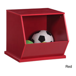 K and B Furniture Co Inc - Wooden Stackable Storage Cubby - Add fun storage to your child's bedroom or playroom with this modular wooden stackable storage cubby. Crafted of solid wood with a colorful painted finish,this unit is perfect for organizing toys and games while teaching little ones to tidy up.