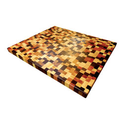 Armani Fine Woodworking - End Grain Brickwork Butcher Block Countertop - Armani Fine Woodworking End Grain Brickwork Butcher Block Countertop
