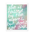 """Hairbrained Schemes - Inspirational Beach House Art Poster Pastel Watercolor - This print is 10x8"""" unmatted and unframed. Printed with premium fade-resistant inks on high quality Epson luster archival paper. Carefully packed in a protective sleeve and shipped in a sturdy cardboard mailer to prevent damage. Colors may vary slightly different than displayed on your monitor."""