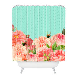 DENY Designs - Allyson Johnson Sweetest Floral Shower Curtain - Who says bathrooms can't be fun? To get the most bang for your buck, start with an artistic, inventive shower curtain. We've got endless options that will really make your bathroom pop. Heck, your guests may start spending a little extra time in there because of it!
