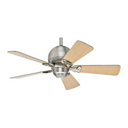 """Hunter - Hunter 52022 ORBit 36 in. Brushed Nickel Ceiling Fan - Pulling together the eclectic elements of a contemporary room can be frustrating. Armed with a dash of space-age whimsy, Orbit makes it a breeze. With a blade span of only 36"""", Orbit is small in size but big on performance."""