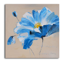 Heart of gold floral Hand Painted Canvas Art - The bright color and bold strokes in this floral acrylic on canvas is sure to appeal wherever you hang it. Hand-painted by a single artist, no two are alike, guaranteeing yours will be one of a kind.