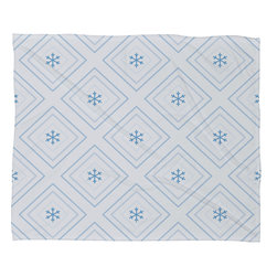 DENY Designs - DENY Designs Lara Kulpa Diamonds In The Snow Fleece Throw Blanket - This DENY fleece throw blanket may be the softest blanket ever! And we're not being overly dramatic here. In addition to being incredibly snuggly with it's plush fleece material, you can also add a photo or select a piece of artwork from the DENY Art Gallery, making it completely custom and one-of-a-kind! And when you've used it so much that it's time for a wash, no big deal, as it's machine washable with no image fading. Plus, it comes in three different sizes: 80x60 (big enough for two), 60x50 (the fan favorite) and the 40x30. With all of these great features, we've found the perfect fleece blanket and an original gift!