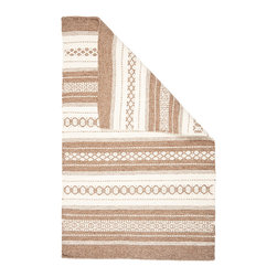Hook & Loom Rug Company - Teaswater Natural Wool Woven Rug - 100% Natural Wool Rug, expertly and tightly hand-woven. Edges are hand bound instead of hemmed, so this rug is 100% reversable for twice the wear. Colors are natural sheep colors. We use no dyes, chemicals, or latex, so it is earth-friendly and family friendly.