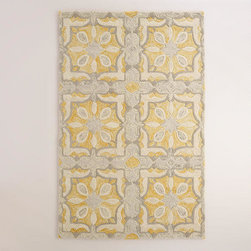 Soleil Tile Tufted Wool Area Rug -