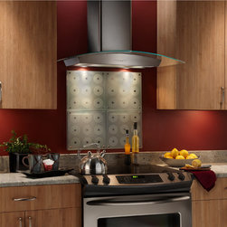 Broan - Broan 30-inch Stainless Steel and Glass Chimney Wall Hood - Use this Broan stainless steel and glass chimney hood to keep your range free of steam and smoke while you cook. This powerful wall hood will keep your kitchen running optimally for cooking and baking.