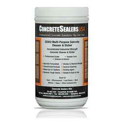 Concrete Sealers USA - CC502 Multi-Purpose Concrete Cleaner & Etcher (32 oz.) - Concentrated Industrial Strength Concrete Cleaner & Etcher