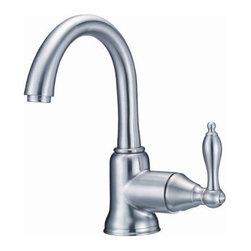 Danze Inc - Lead Law Compliant 1 Lever Lavatory Faucet Brushed Nickel 1.5 GPM - Ceramic Disc Valve