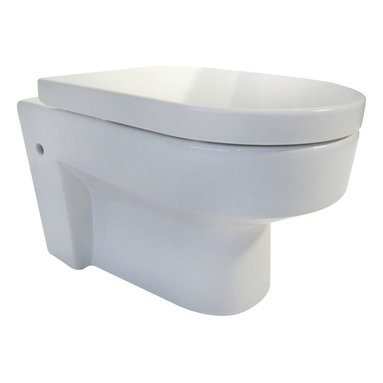 EAGO - EAGO WD101 Wall Mount Dual Flush Modern White Ceramic Toilet - EAGO now offers wall mounted toilets so you can enjoy the benefits of having an open floor which is easy to clean and simply looks neat. You will need an in wall tank carrier to go with this toilet. EAGO makes a dual flush model to match model PSF332