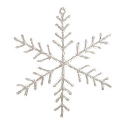Silk Plants Direct - Silk Plants Direct Glitter Snowflake Ornament (Pack of 12) - Clear White - Pack of 12. Silk Plants Direct specializes in manufacturing, design and supply of the most life-like, premium quality artificial plants, trees, flowers, arrangements, topiaries and containers for home, office and commercial use. Our Glitter Snowflake Ornament includes the following: