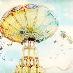 Ride the Sky - Coney Island Carousel Print, 20x30 - Carousel Rides at Luna Park, Coney Island - Brooklyn, NY