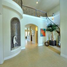 Mediterranean Staircase by McCullough Design Associates