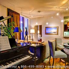 Contemporary Living Room by Dean J. Birinyi Photography