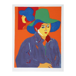 Pre-owned John Grillo, Blue Hat, Serigraph - A lovely serigraph by American artist John Grillo. This piece titled Blue Hat, 1978. The serigraph is signed and numbered in pencil. Edition: 200, AP 30.    Image Size: 31 x 23.5 inches  Size: 34 x 26 inches    RoGallery is an established auction house, art dealer and gallery located in the New York City area. In business for over 30 years, they are active fine art buyers & sellers and frequently hold online live art auctions. They occupy a 10,000 square foot building that holds their extensive collection of modern and contemporary artworks including paintings, prints, photographs, & sculpture.