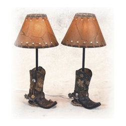 PS - 14.5 Inch Brown Cowboy Boots Shaped Lamp Stencil Shade Set of 2 - This gorgeous 14.5 Inch Brown Cowboy Boots Shaped Lamp Stencil Shade Set of 2 has the finest details and highest quality you will find anywhere! 14.5 Inch Brown Cowboy Boots Shaped Lamp Stencil Shade Set of 2 is truly remarkable.