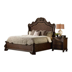 Hooker Furniture - Hooker Furniture Adagio Panel Bed 3 Piece Bedroom Set - Hooker Furniture - Bedroom Sets - 5091902XX3PCPKG -