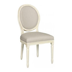 French Side Chair, Antique White