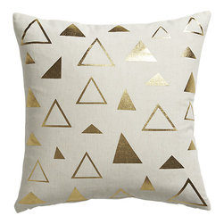 Tryst Pillow - Geometric and gold, this pillow is love at first sight!