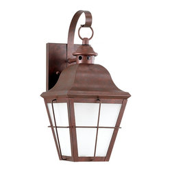 Sea Gull Lighting - Sea Gull Lighting 89062BLE-44 Chatham 1 Light Outdoor Wall Lights in Weathered C - Fluorescent Outdoor Wall Lantern One Light Weathered Copper Finish