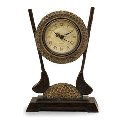 IMAX CORPORATION - Golf Clock - The perfect desk clock for someone who loves golf, this golf inspired clock makes a great gift item for any golf enthusiast!. Find home furnishings, decor, and accessories from Posh Urban Furnishings. Beautiful, stylish furniture and decor that will brighten your home instantly. Shop modern, traditional, vintage, and world designs.