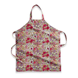 Jardin Apron, Red/Grey