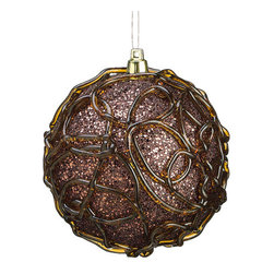 Silk Plants Direct - Silk Plants Direct Glitter Swirl Pattern Ball Ornament (Pack of 4) - Copper - Pack of 4. Silk Plants Direct specializes in manufacturing, design and supply of the most life-like, premium quality artificial plants, trees, flowers, arrangements, topiaries and containers for home, office and commercial use. Our Glitter Swirl Pattern Ball Ornament includes the following: