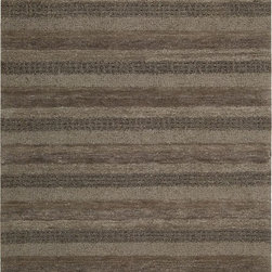 "Calvin Klein - Contemporary CK24 - Sequoia 2'6""x4' Rectangle Woodland Area Rug - The CK24 - Sequoia area rug Collection offers an affordable assortment of Contemporary stylings. CK24 - Sequoia features a blend of natural Woodland color. Handmade of 100% Wool Pile the CK24 - Sequoia Collection is an intriguing compliment to any decor."