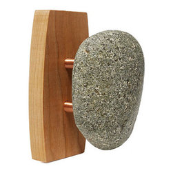 Single Sea Stone Wall Hook - This sea stone wall hook brings nature inside. Its elegant and organic form is perfect for the bath, entryway or kitchen.