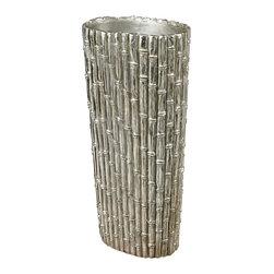 Sterling - Sterling 112-1127 Silver Bamboobamboo Floor Standing Vase - Sterling 112-1127 Silver Bamboobamboo Floor Standing Vase