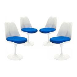 Modway Imports - Modway EEI-1342-BLU Lippa Dining Side Chair Set of 4 In Blue - Modway EEI-1342-BLU Lippa Dining Side Chair Set of 4 In Blue