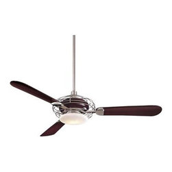 """F601-BS-MG Minka Aire F601-BS/MG Acero Ceiling Fan - Get 10% discount on your first order. Coupon code: """"houzz"""". Order today."""