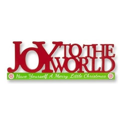 Joy To The World Cutout Christmas Centerpiece - THE SIMPLEST OF WORDS | The Joy To The World Cutout Christmas Centerpiece brings good tidings and joy to any holiday home. Featuring famous words from a beloved carol, it reminds people of the true spirit of Christmas.