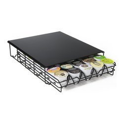 None - Coffee Cup Storage Drawer - This tray was built specifically to take up as little space as possible for your brewer. This beautiful black finish looks great in any kitchen decor and holds 30 small brewer cups.