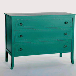 Chloe Dresser Turquoise - We are please to announce our newest custom made item! These dressers are constructed and finished to order in a color of your choice. Call 401-516-7711 to order.
